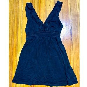 Rebecca Beeson Size 0 Black Ruched Tank Top